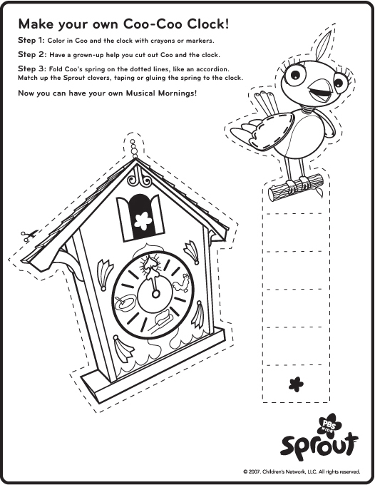 Cuckoo Clock Coloring Pages Food Ideas